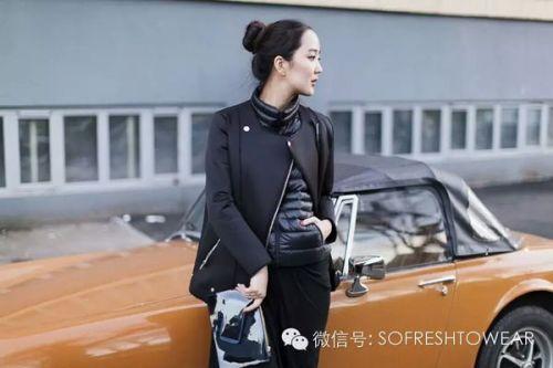 韩国羽绒服时尚街拍