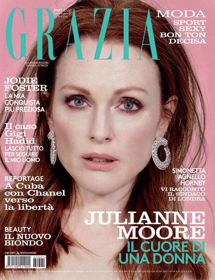 朱丽安·摩尔登封面演绎春装时尚大片