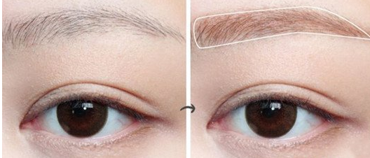 大饼脸小眼睛化妆技巧 眉毛要有眉峰