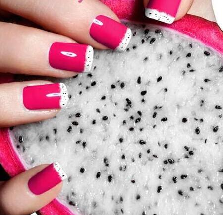 夏天美甲图片 水果图案美甲图片