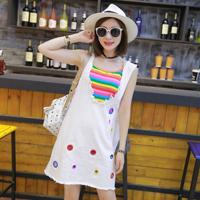 彩虹色单品款式图片 雪纺半裙好仙女