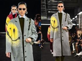刘雯惊艳了!无眉妆配喷绘大衣也不丑,见到过的最高级的另类时髦