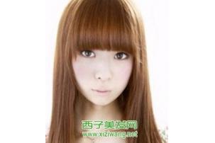 齐刘海卷发发型图片,2020齐刘海发型图片