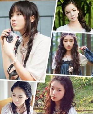 日系森女必备长发发型图片