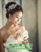 韩版新娘妆发型造型 清新又甜美的新娘造型