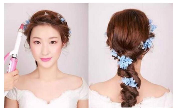 女生个性的辫子编发发型图片