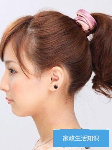额头的头发如何梳看上去高 女生额头发饰的图片